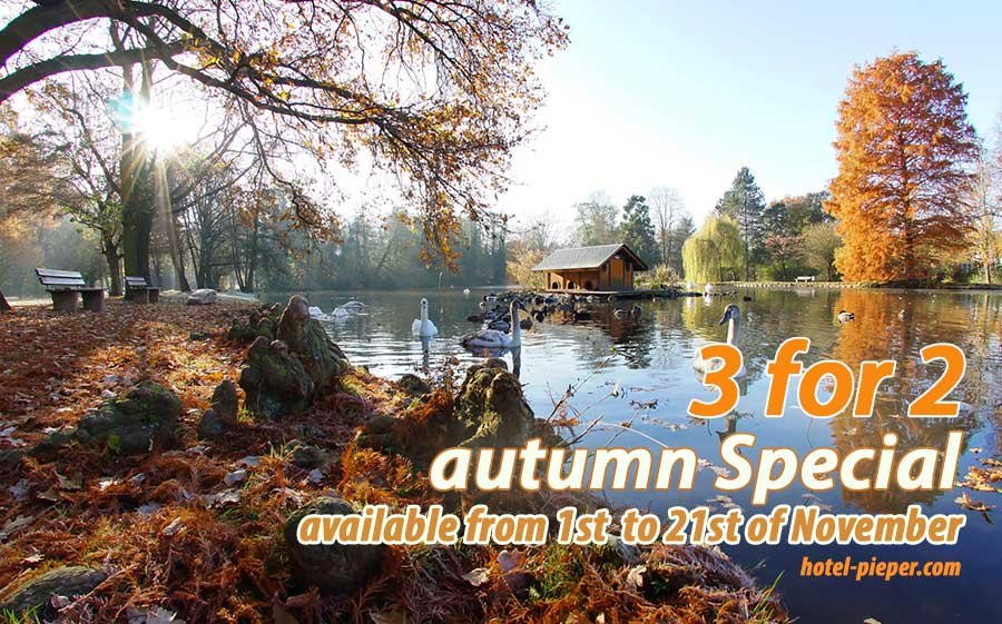 Hotel Pieper autumn special 3 for 2